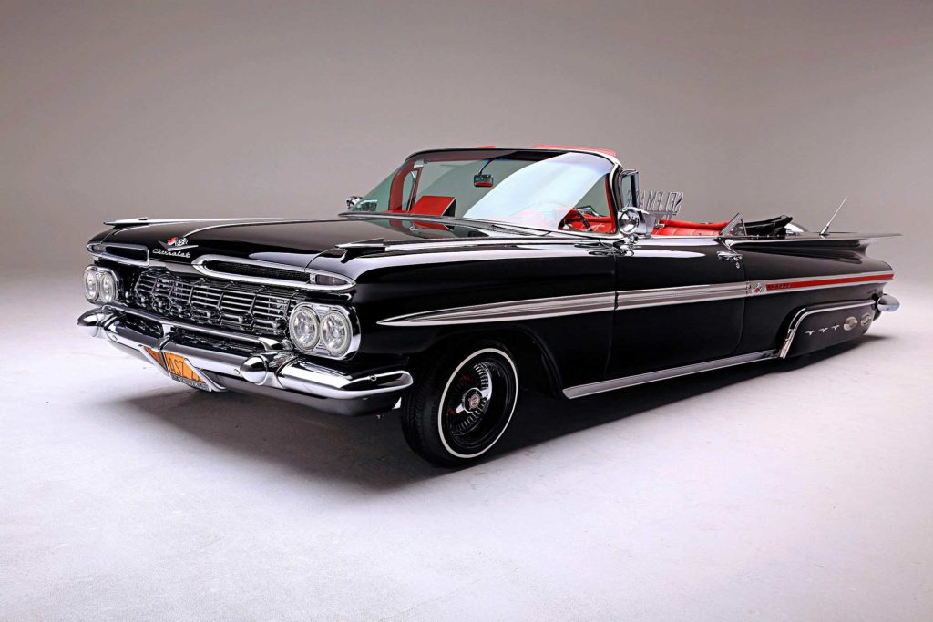 1959 chevrolet impala convertible laid front side