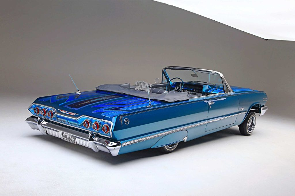 1963 chevrolet impala top dropped rear view