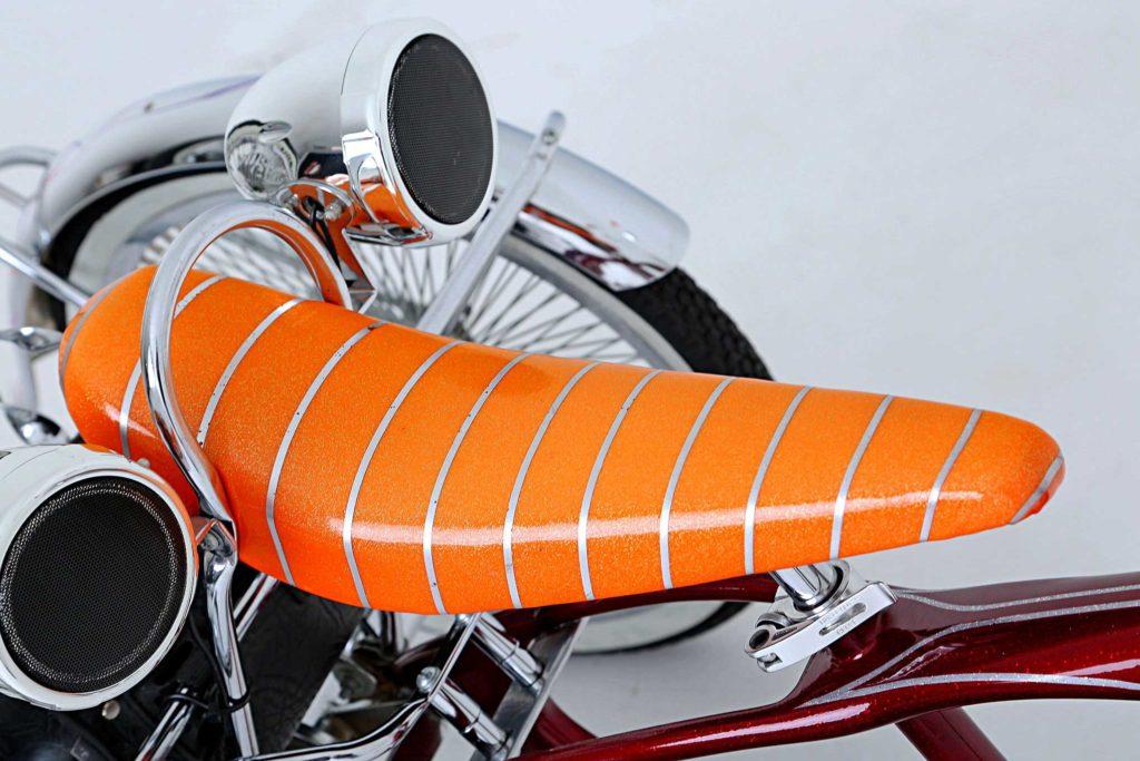 1969 schwinn trike orange banana seat