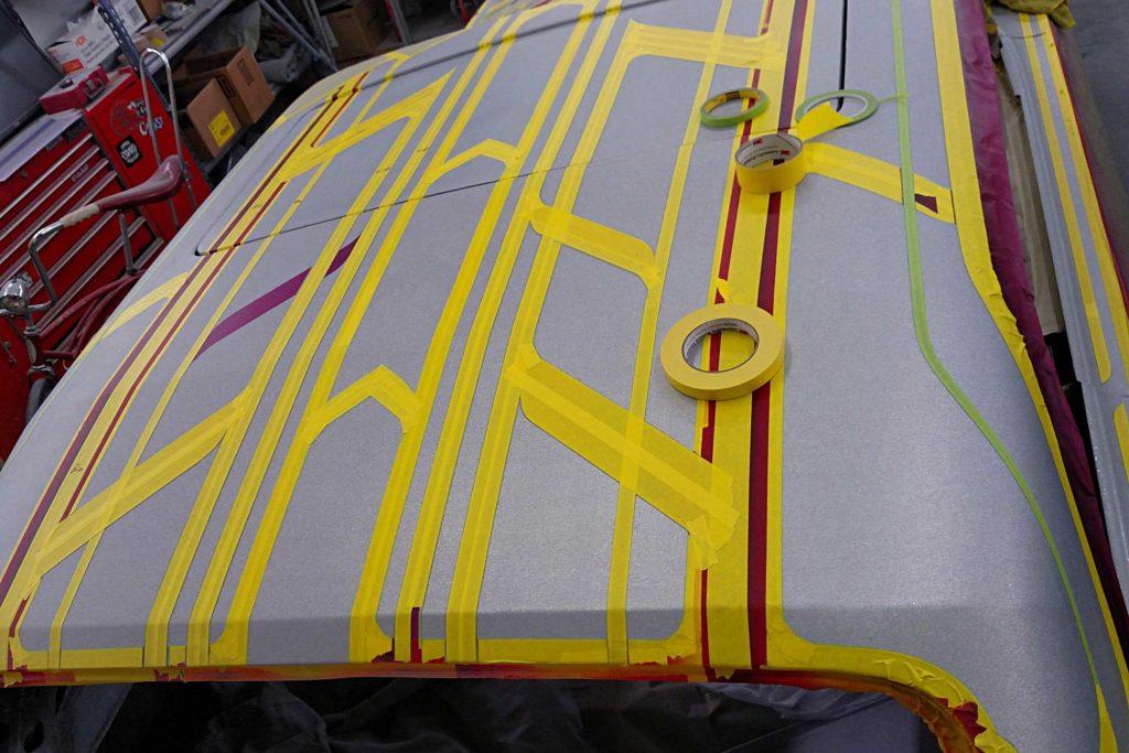 california funks custom paintjob 1st round back masking