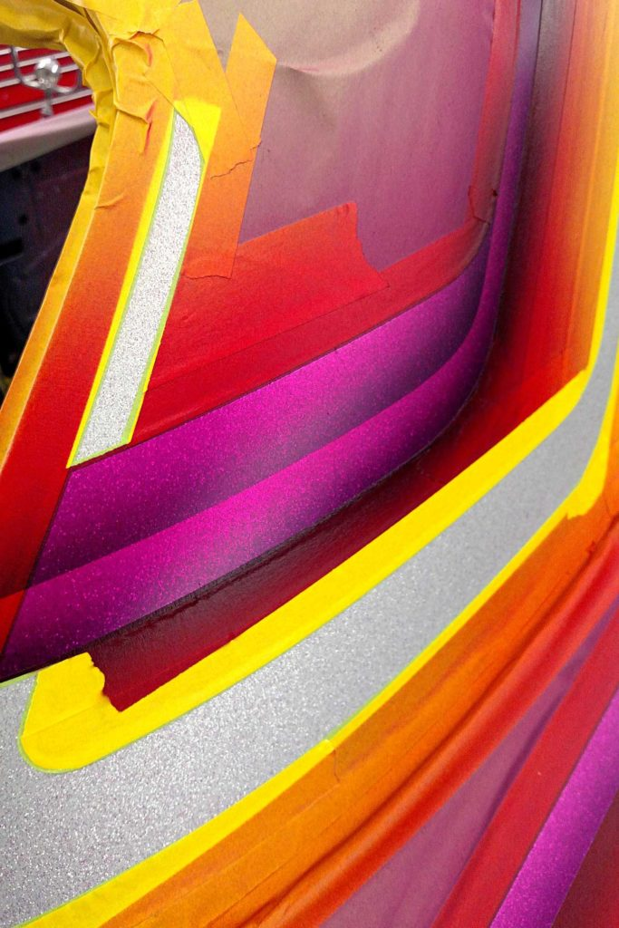 california funks custom paintjob axalta hot hues magentas purples reds