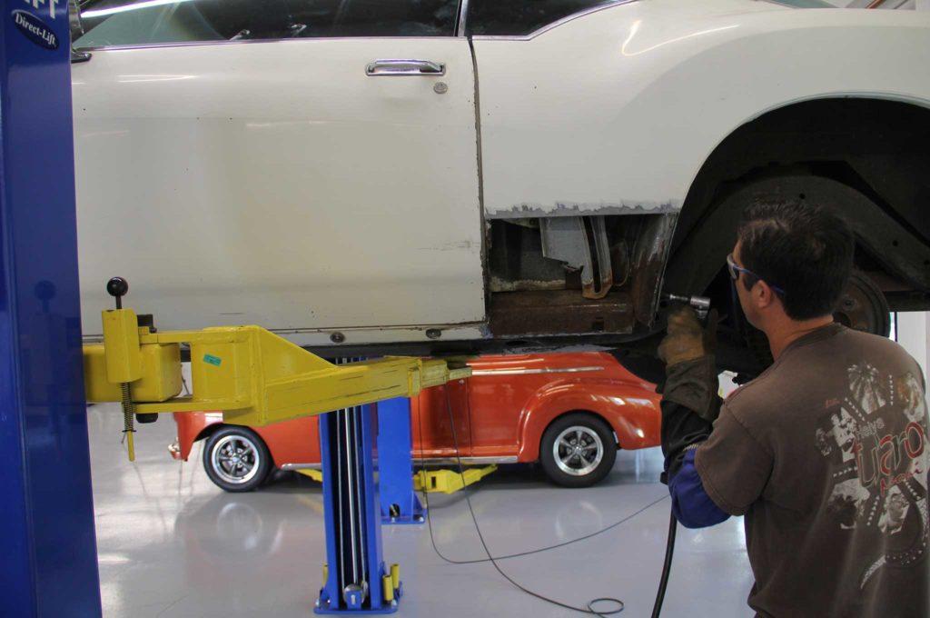 metal panel replacement panel cutting