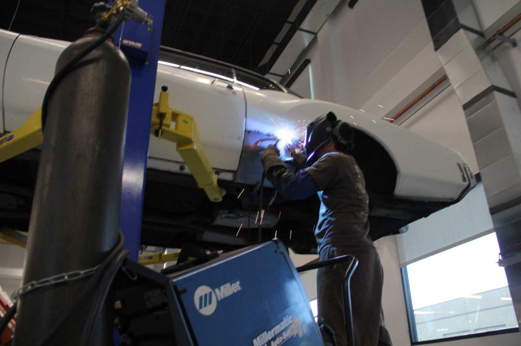 metal panel replacement panel welding