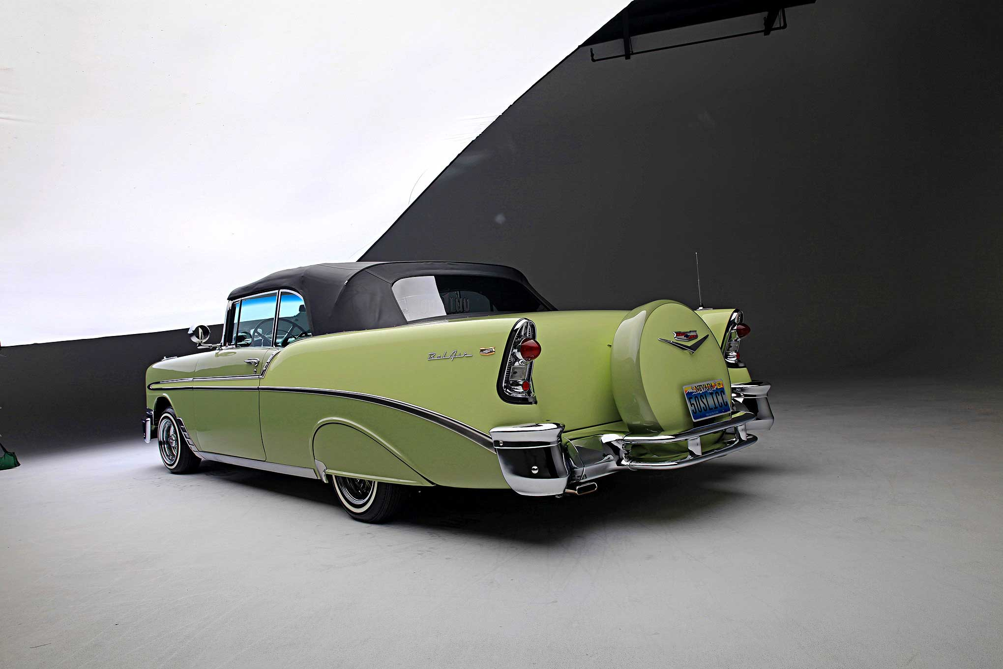 1956 Chevrolet Bel Air The Myth Of 56 1966 Rear View 57 67