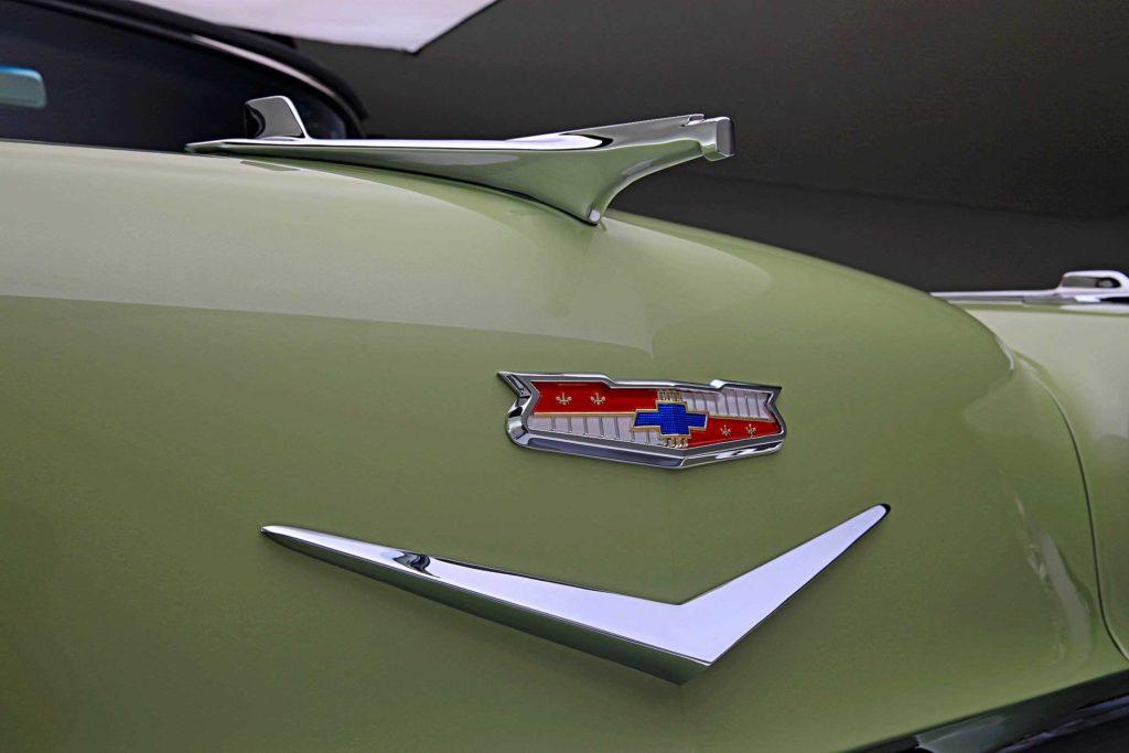 1956 chevrolet bel air front hood emblem