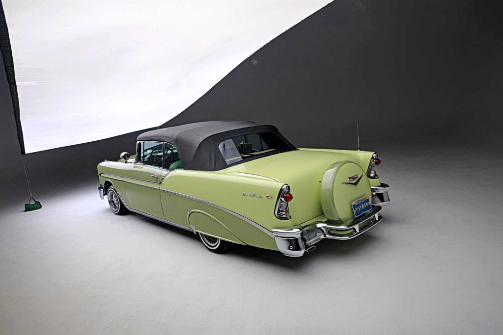 1956 chevrolet bel air top driver side rear view