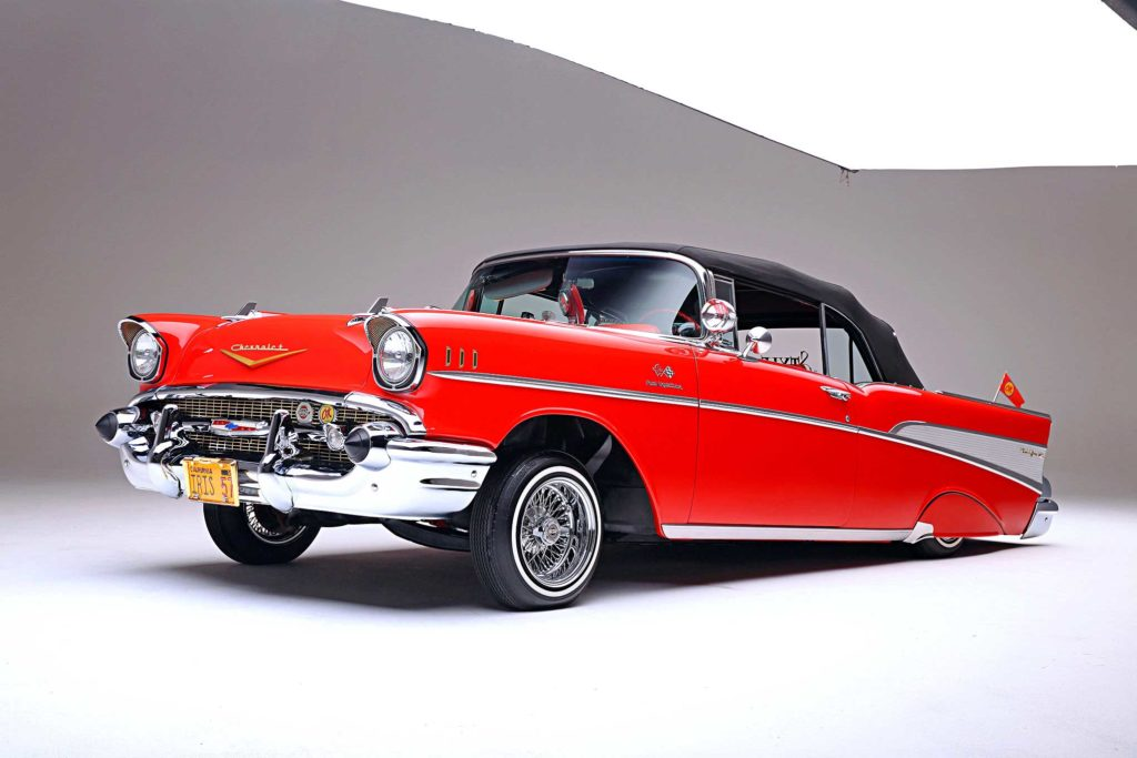 1957 chevrolet bel air convertible front locked up