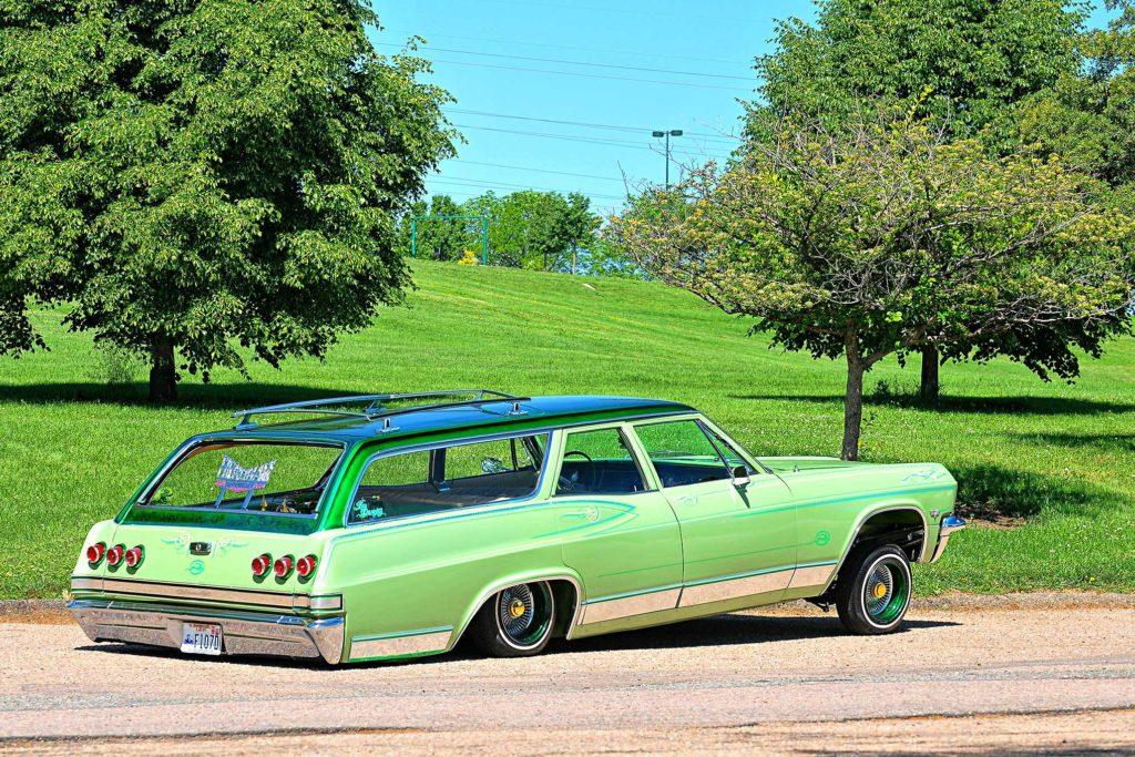1965 chevrolet impala wagon passenger side rear quarter view
