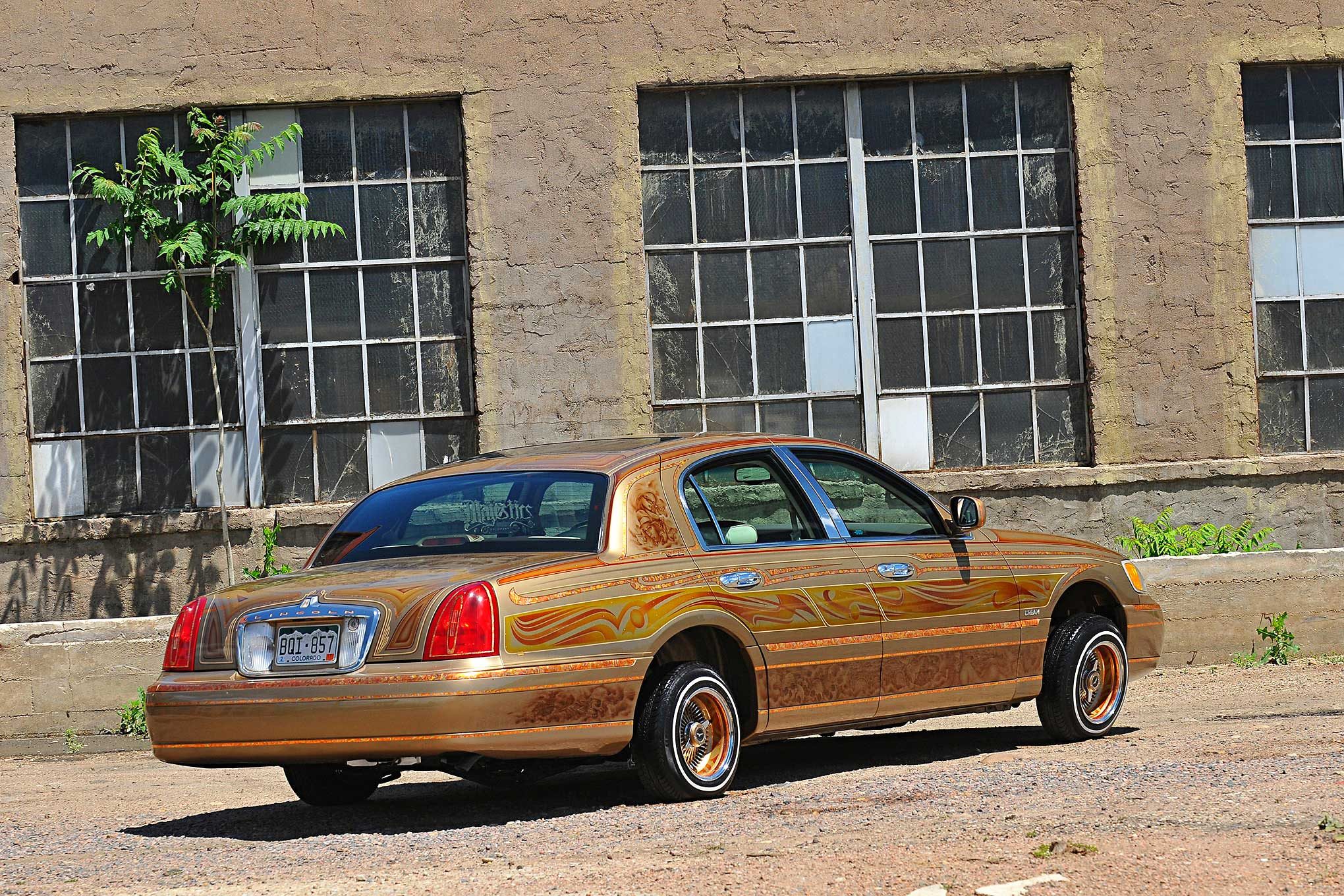 1998 Lincoln Towncar Back Passenger Side Rear View Lowrider