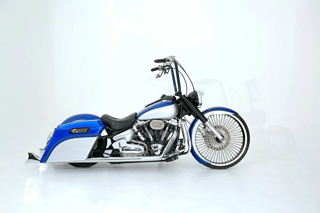 2007 yamaha roadstar crusing azul