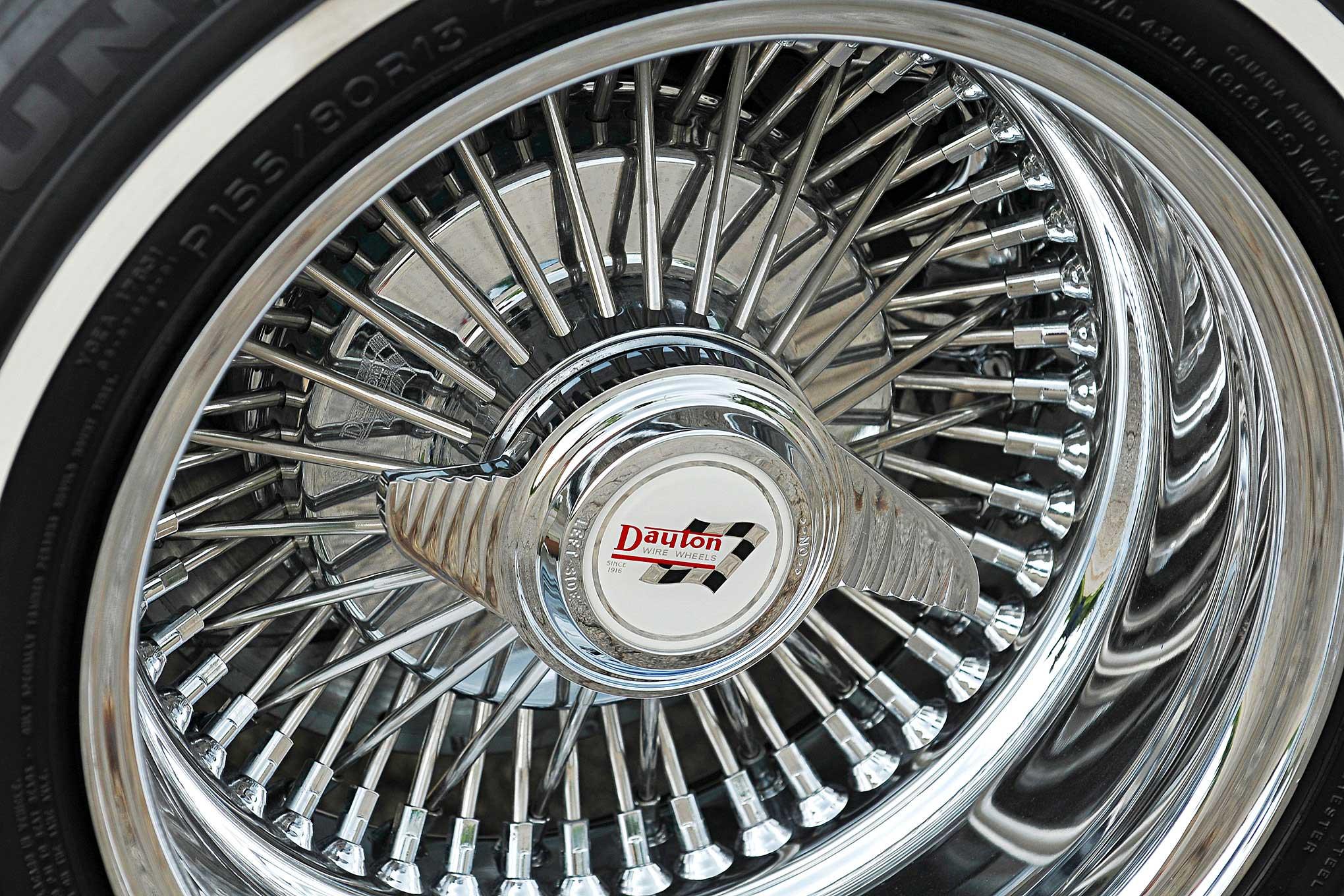 1957 chevrolet bel air dayton wire wheel - Lowrider