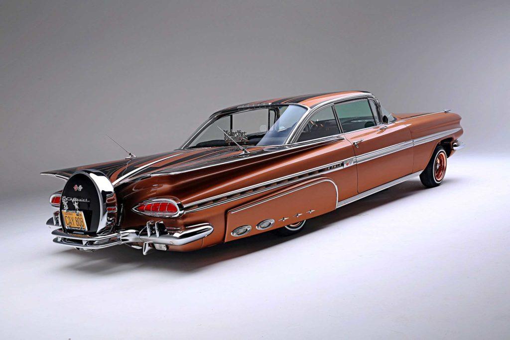 1959 chevrolet impala rear passenger side view