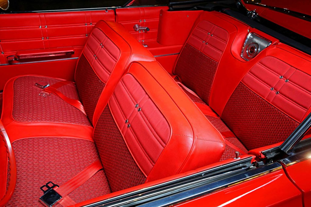 1963 chevrolet impala convertible red vinyl interior