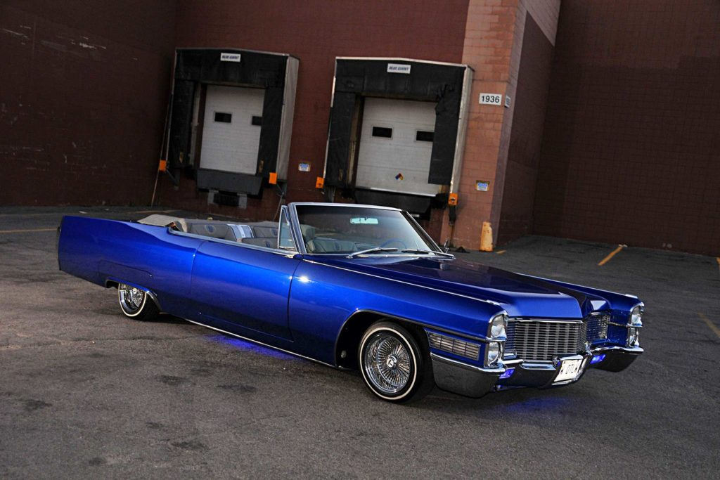 1965 cadillac coupe de ville axalta impulse blue paintjob