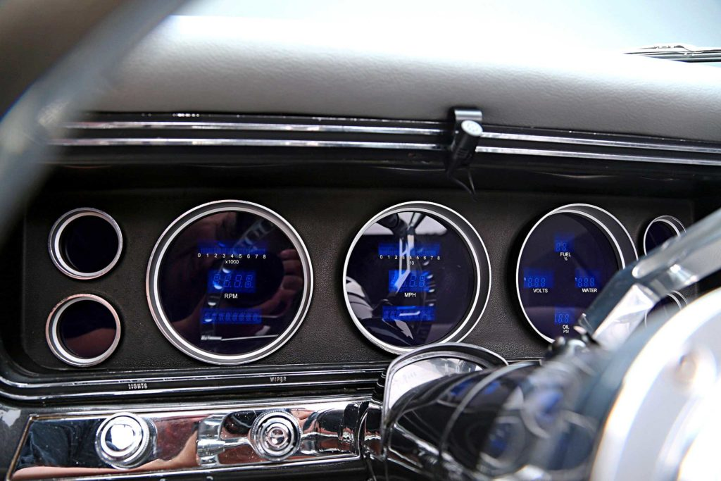 1967 chevrolet impala convertible digital gauge cluster