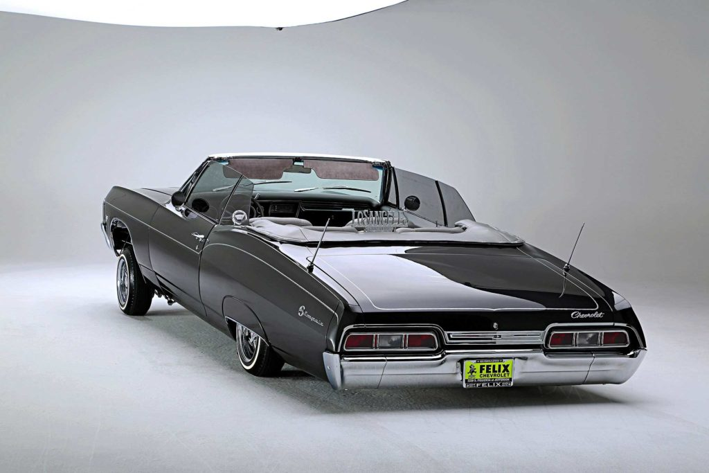 1967 chevrolet impala convertible top down