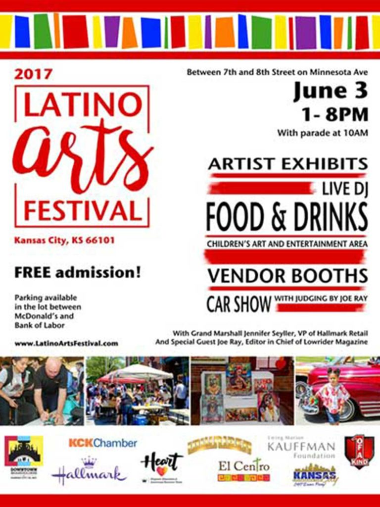 2017 latino arts festival flyer
