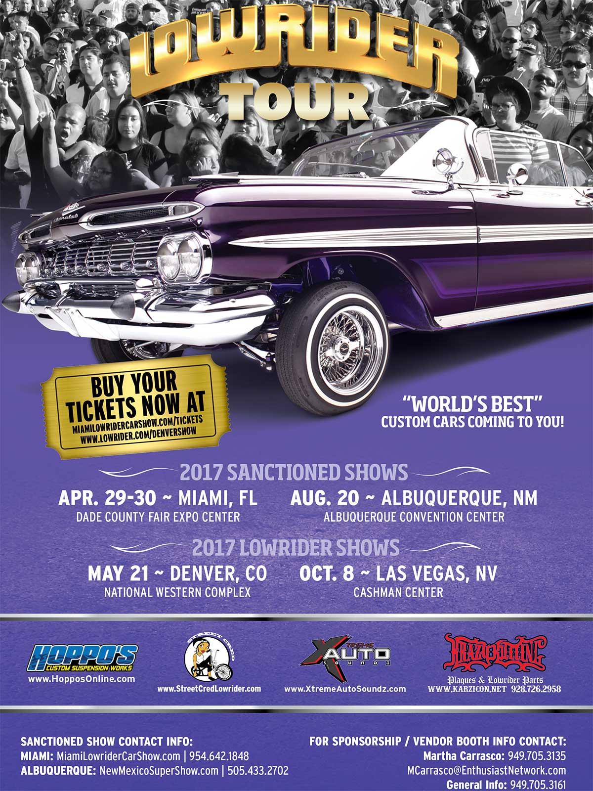 2017 Lowrider Tour Schedule 03232017