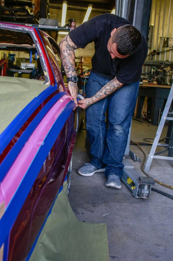 different paint types and how to use them quarter panel taping