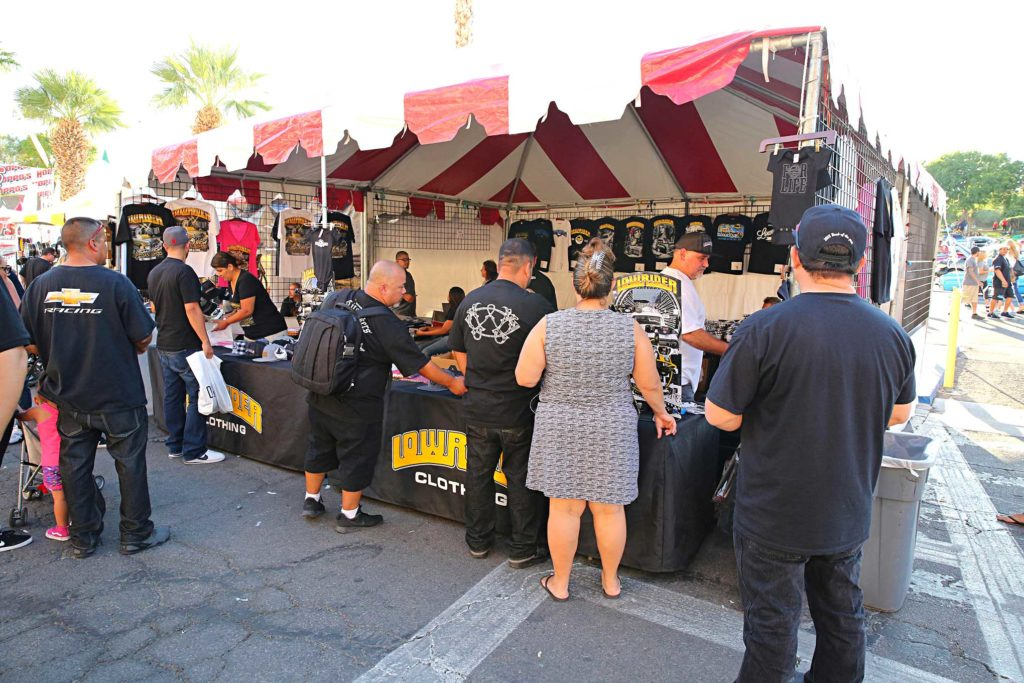the aquafresca brothers lowrider clothing booth