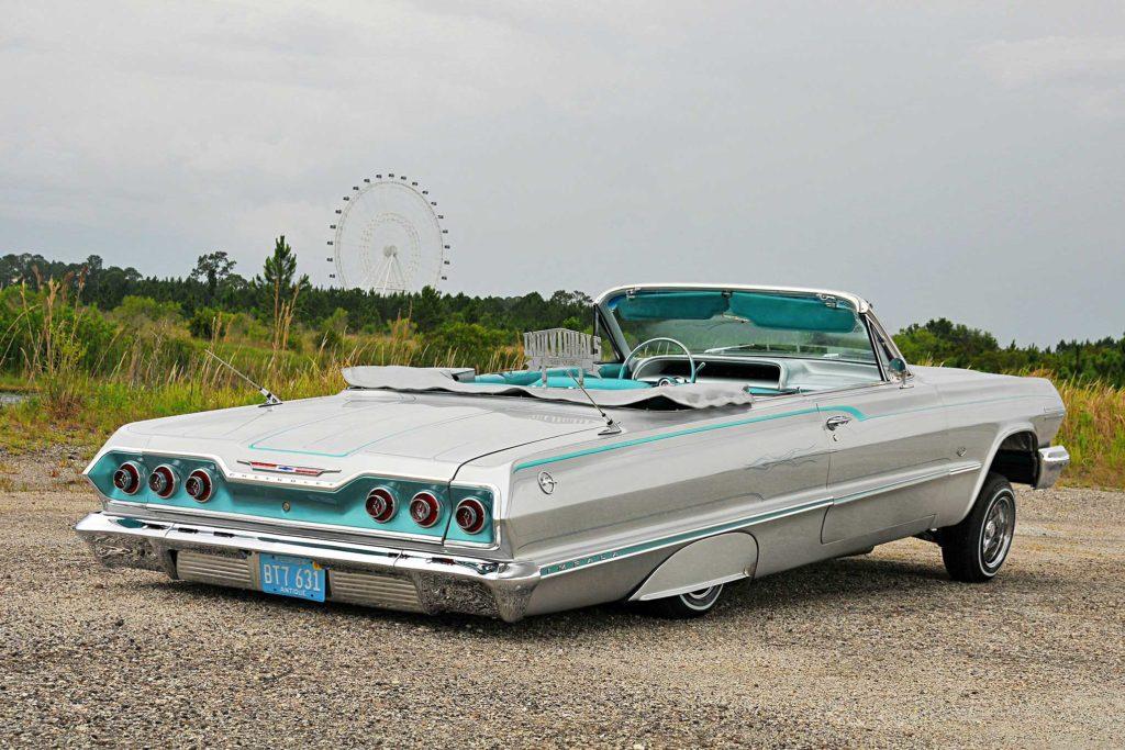 1963 Chevrolet Impala Convertible Passenger Side Rear View