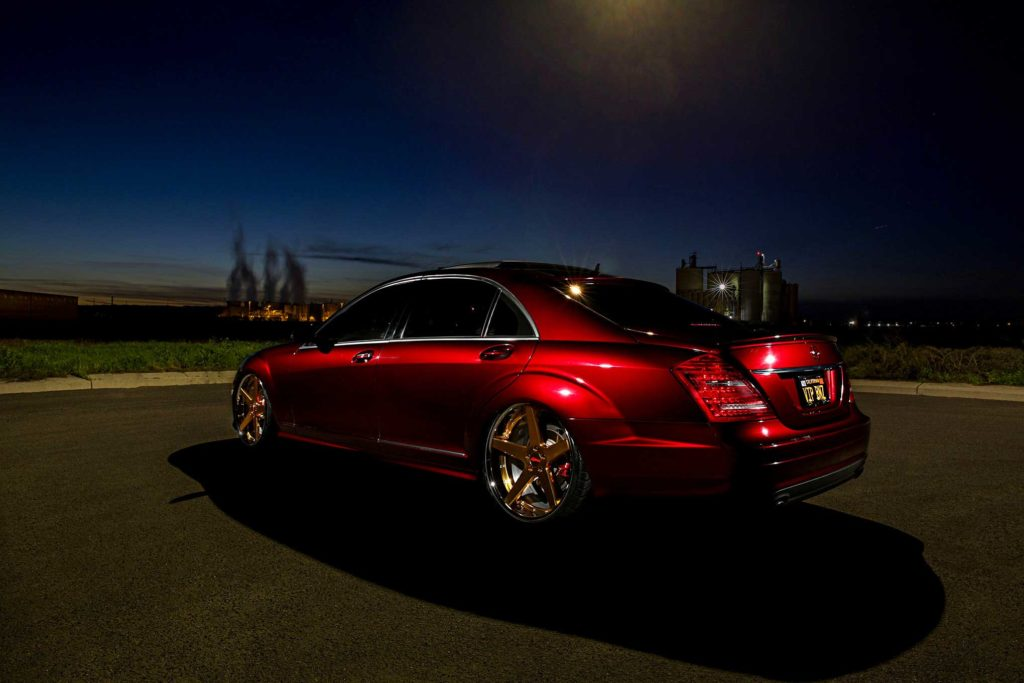 2009 Mercedes S550 driver side rear view