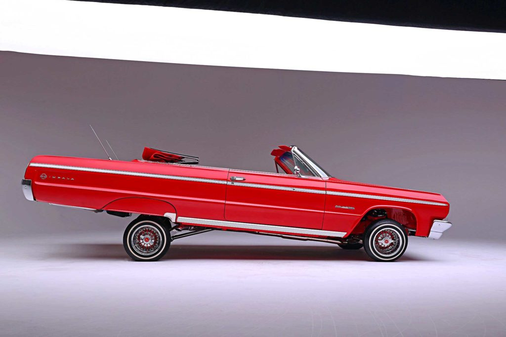 1964 Chevrolet Impala Convertible Super Sport Top Down Passenger Side Profile
