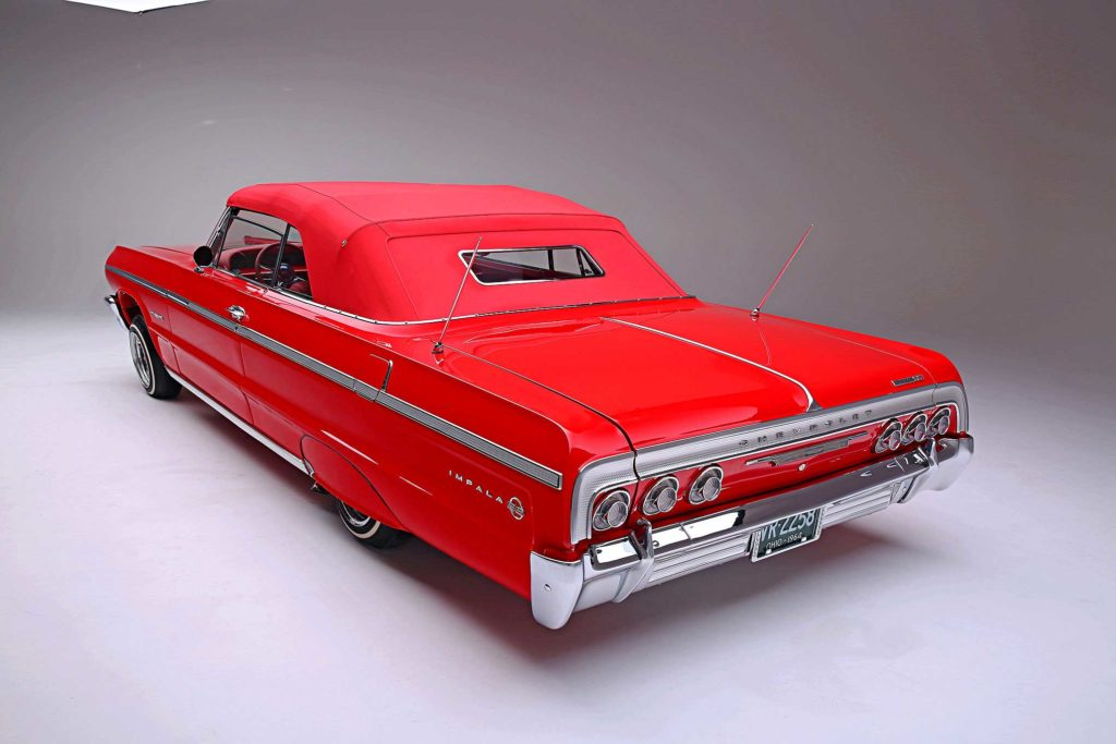 1964 Chevrolet Impala Convertible Super Sport rear three quarter Driver Side Rear Quarter View