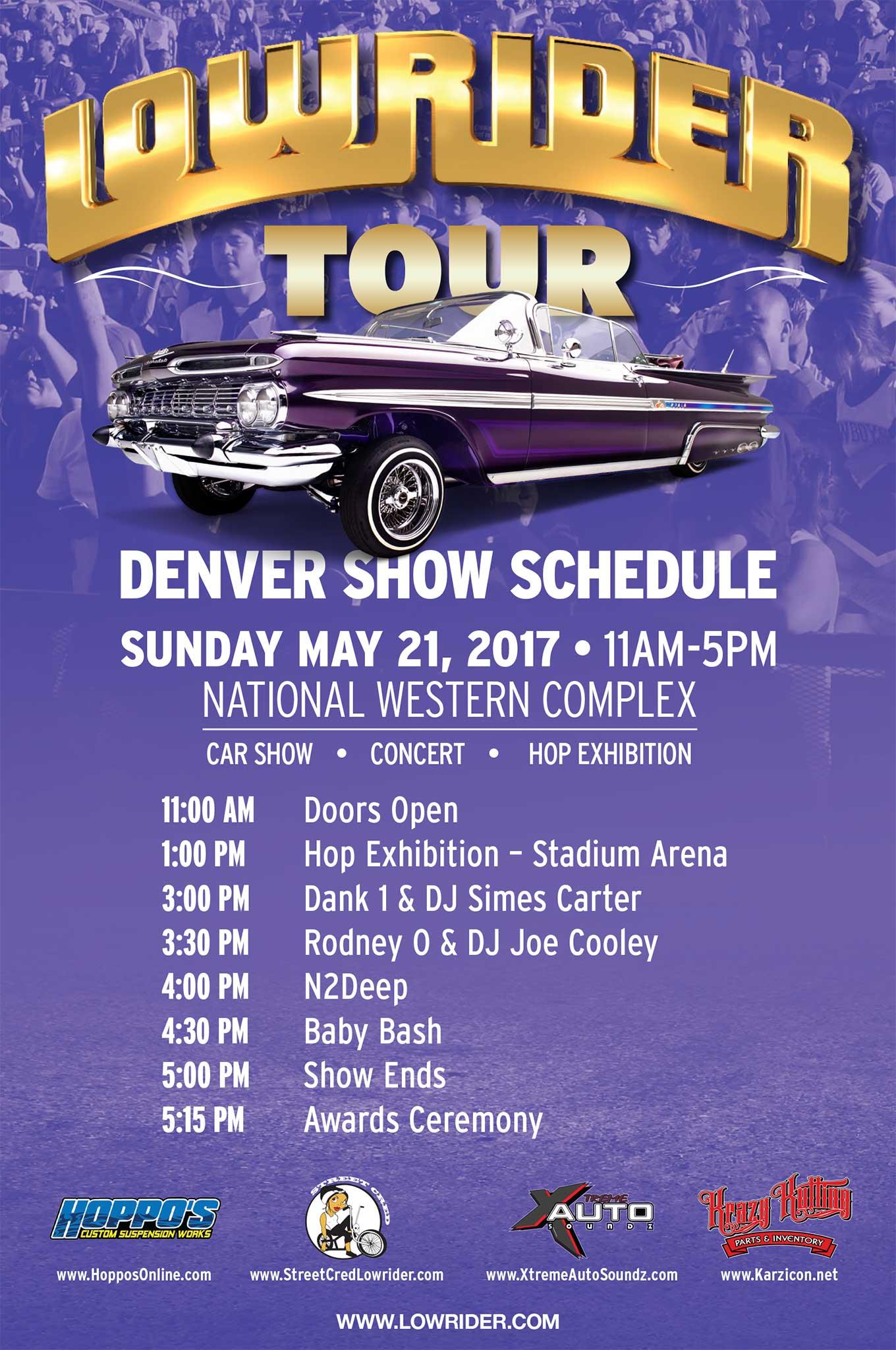 Denver Super Show Flyer Lowrider - Car show schedule