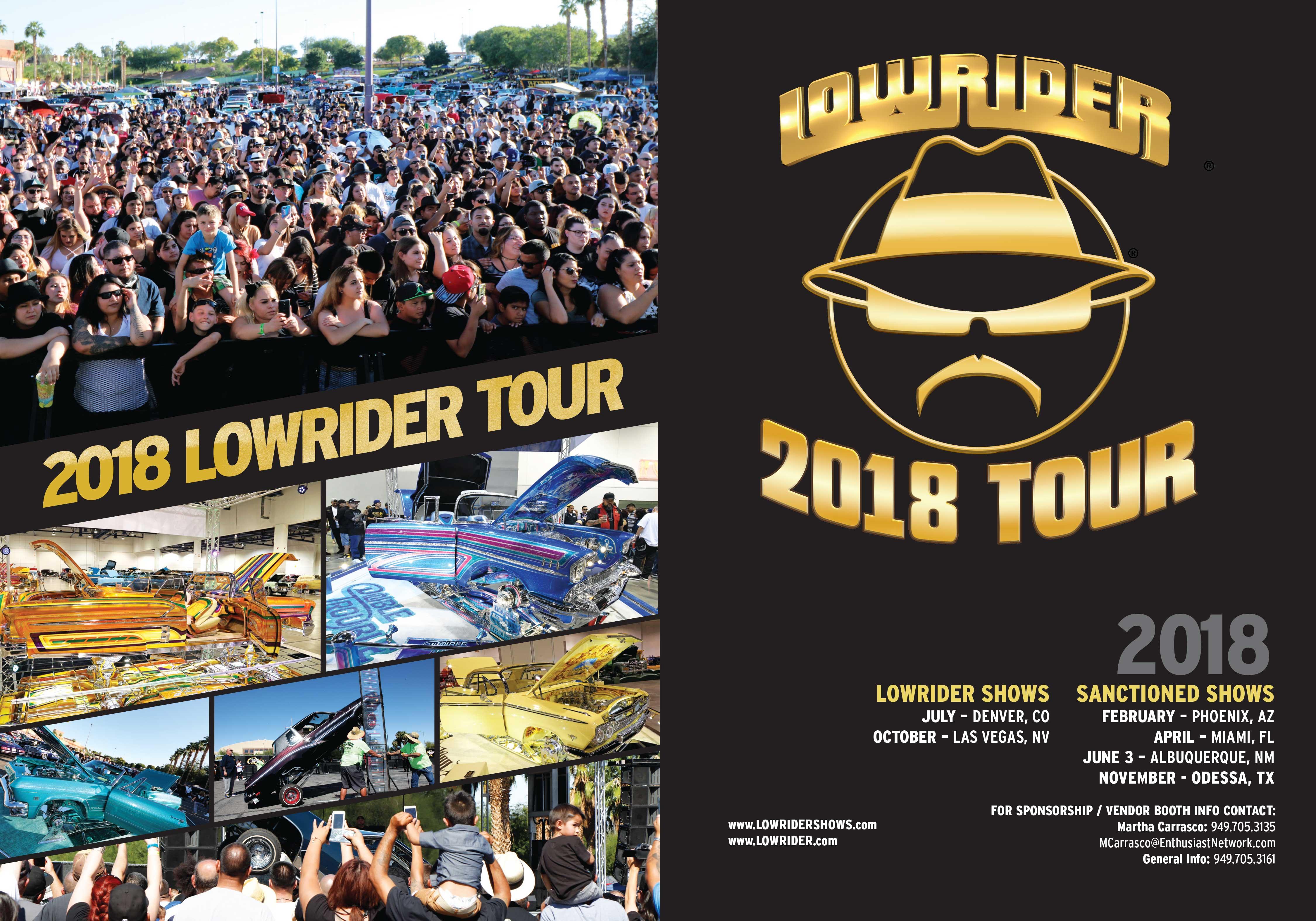 2019 Lowrider Tour Schedule Lowrider