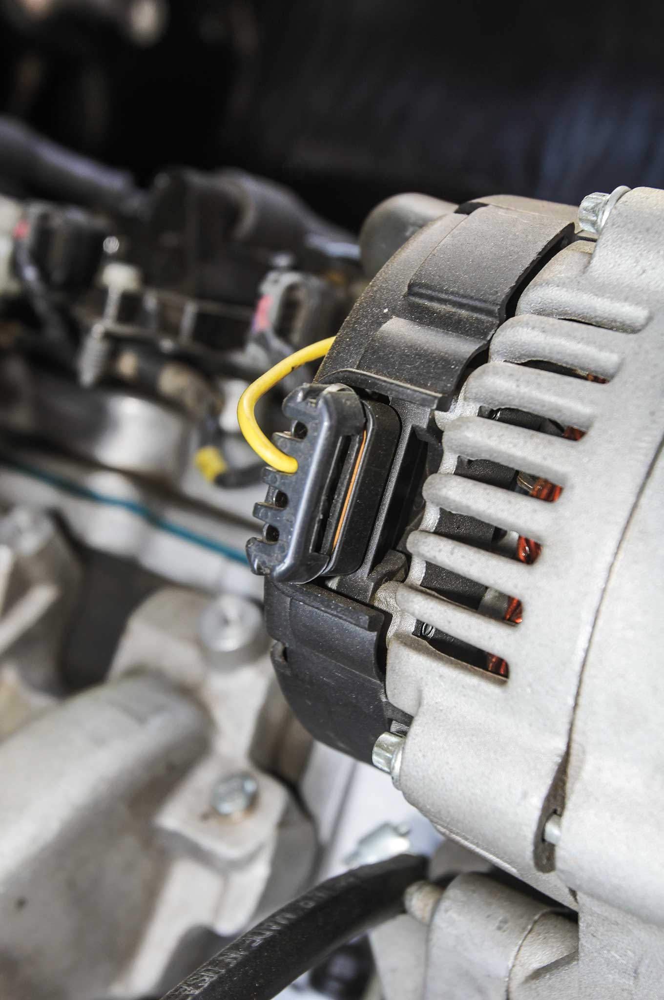 Details And Tips To Make Your Ls Engine Conversion Easy Coil Wiring All Gm Gen Iii Iv Engines Use The Cs130d Alternator With Its Unique Connector Wire This Into A 60s Vehicle Painless Performance