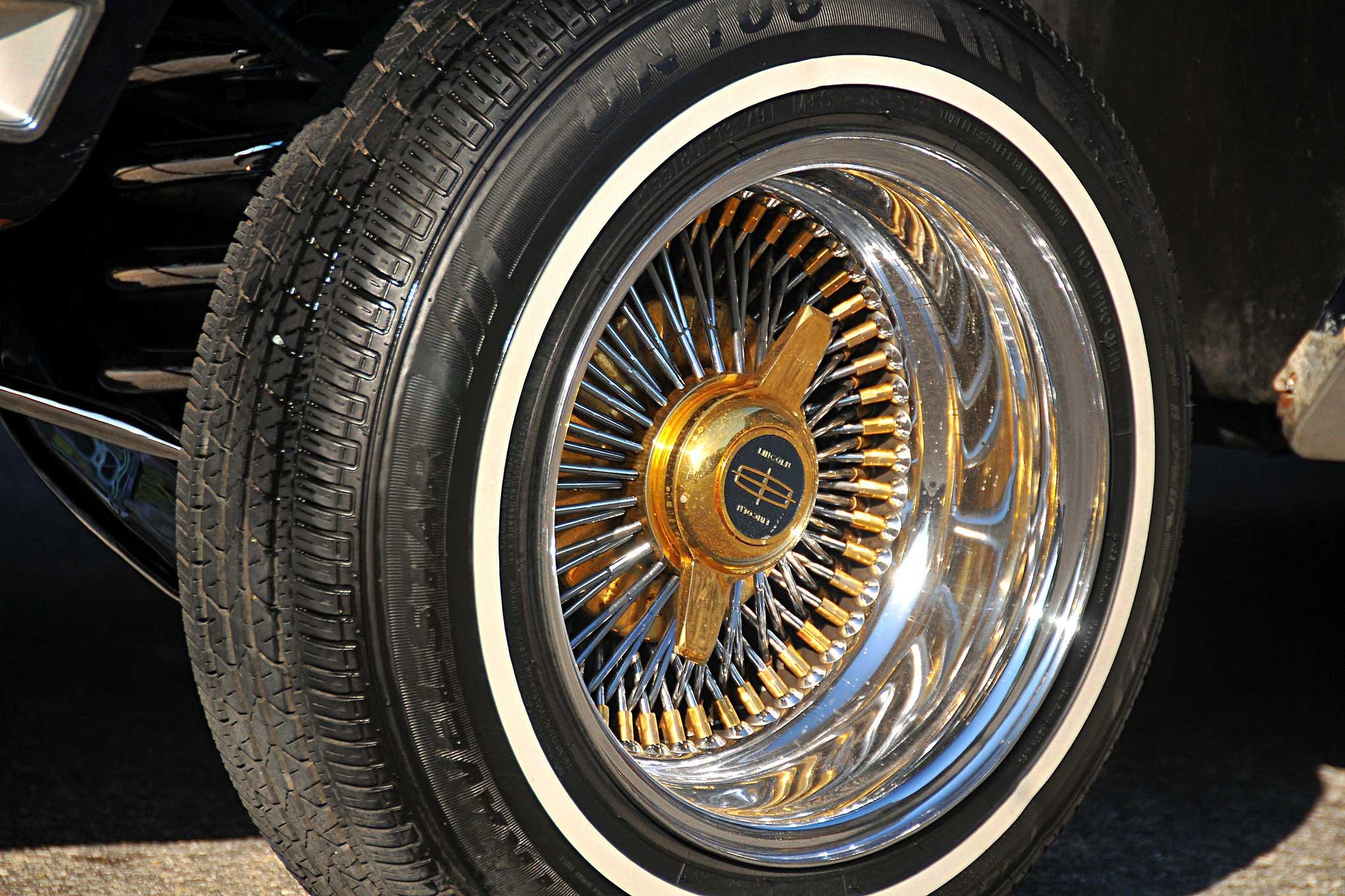 1979 Lincoln Continental Mark V Triple Gold OG Wire Wheel ... on