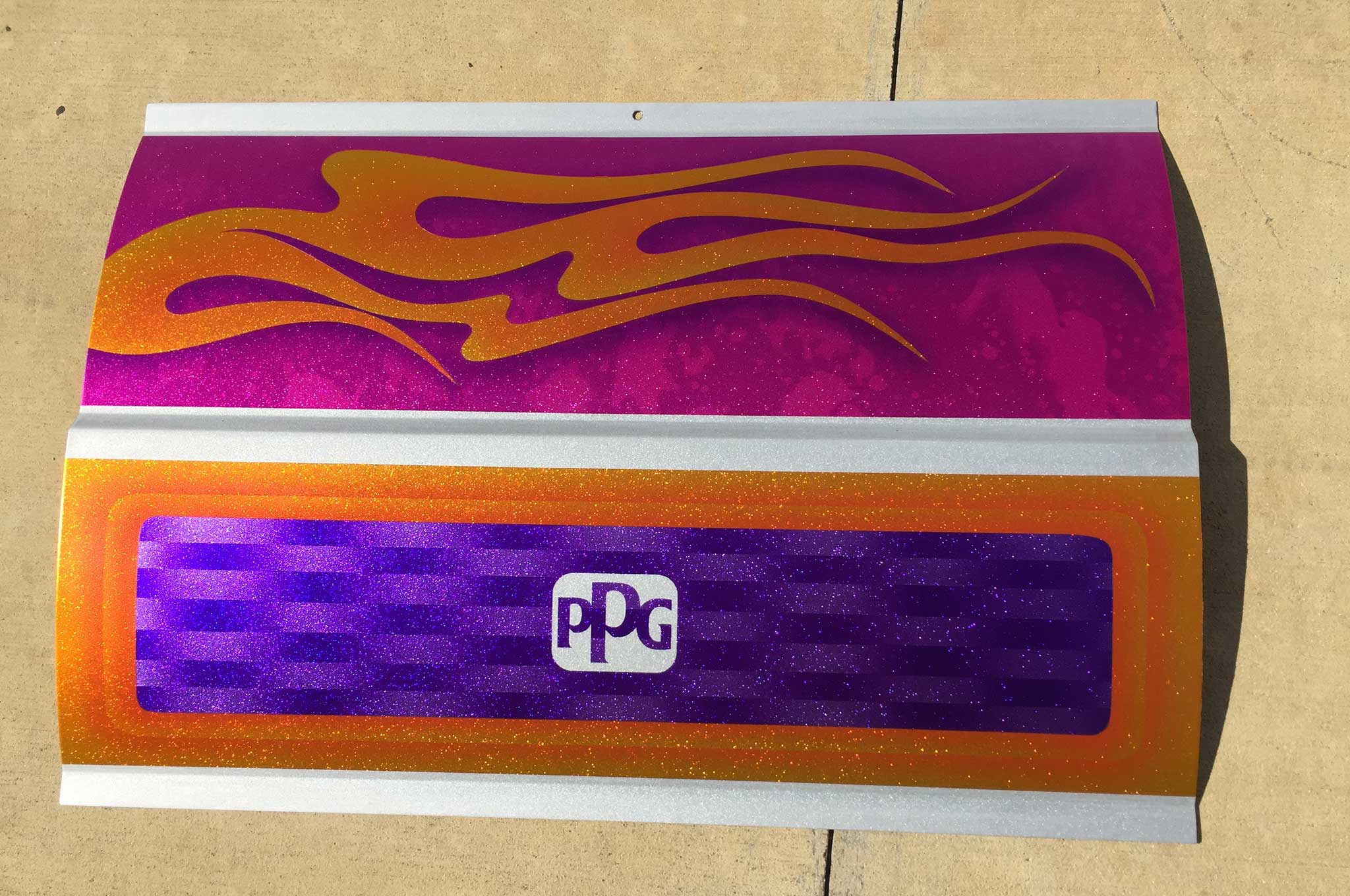 Ppg Waterborne Technology Custom Painted Panel 04 Lowrider