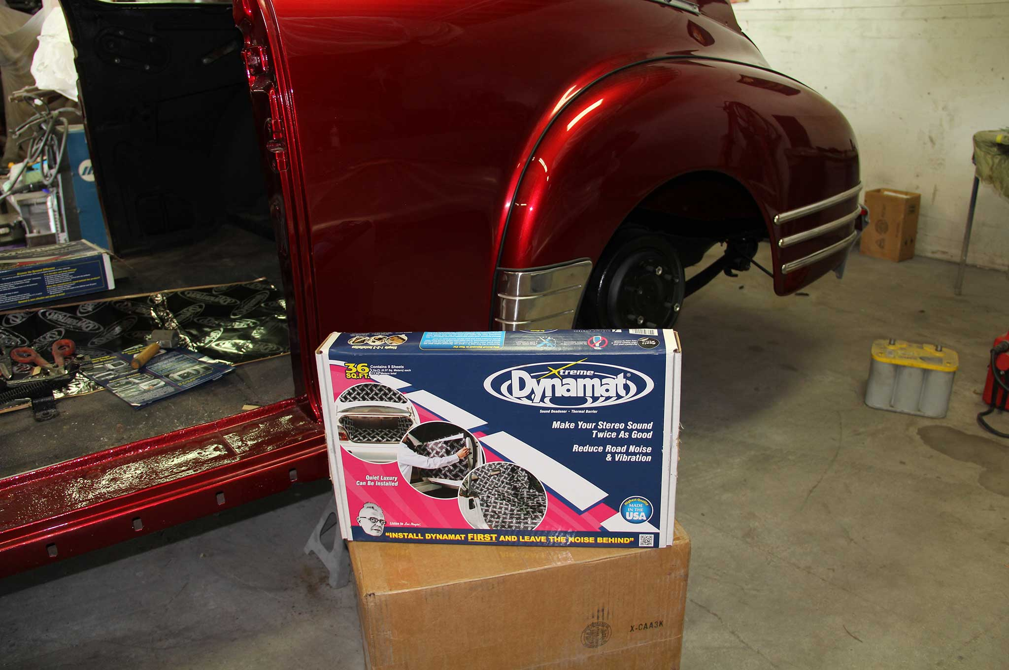 Adding Dynamat S Sound Insulation To A Chevy Fleetline