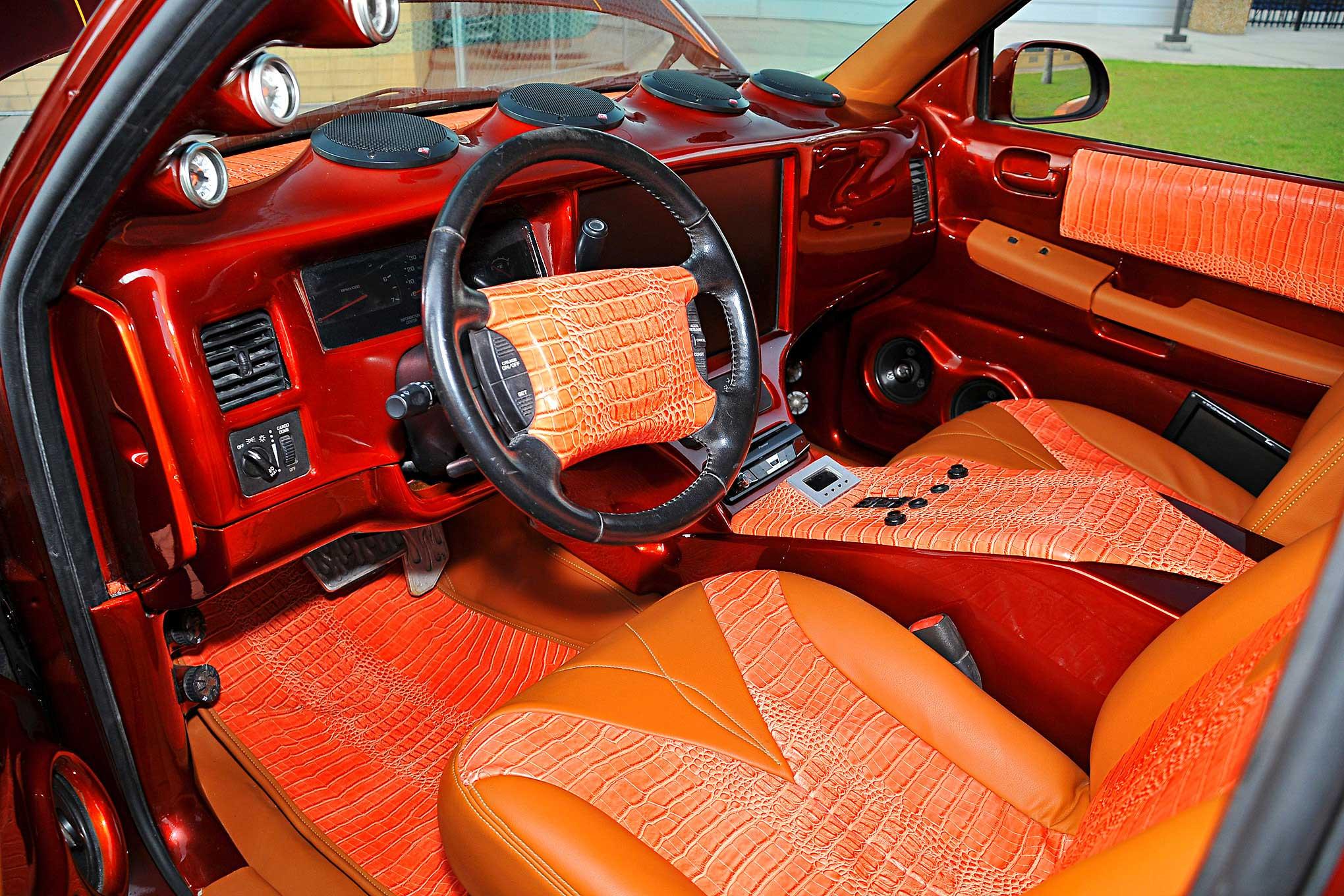 Dodge Dakota Orange Gator Skin Tan Vinyl Interior on Dodge Dakota Aftermarket Body Parts