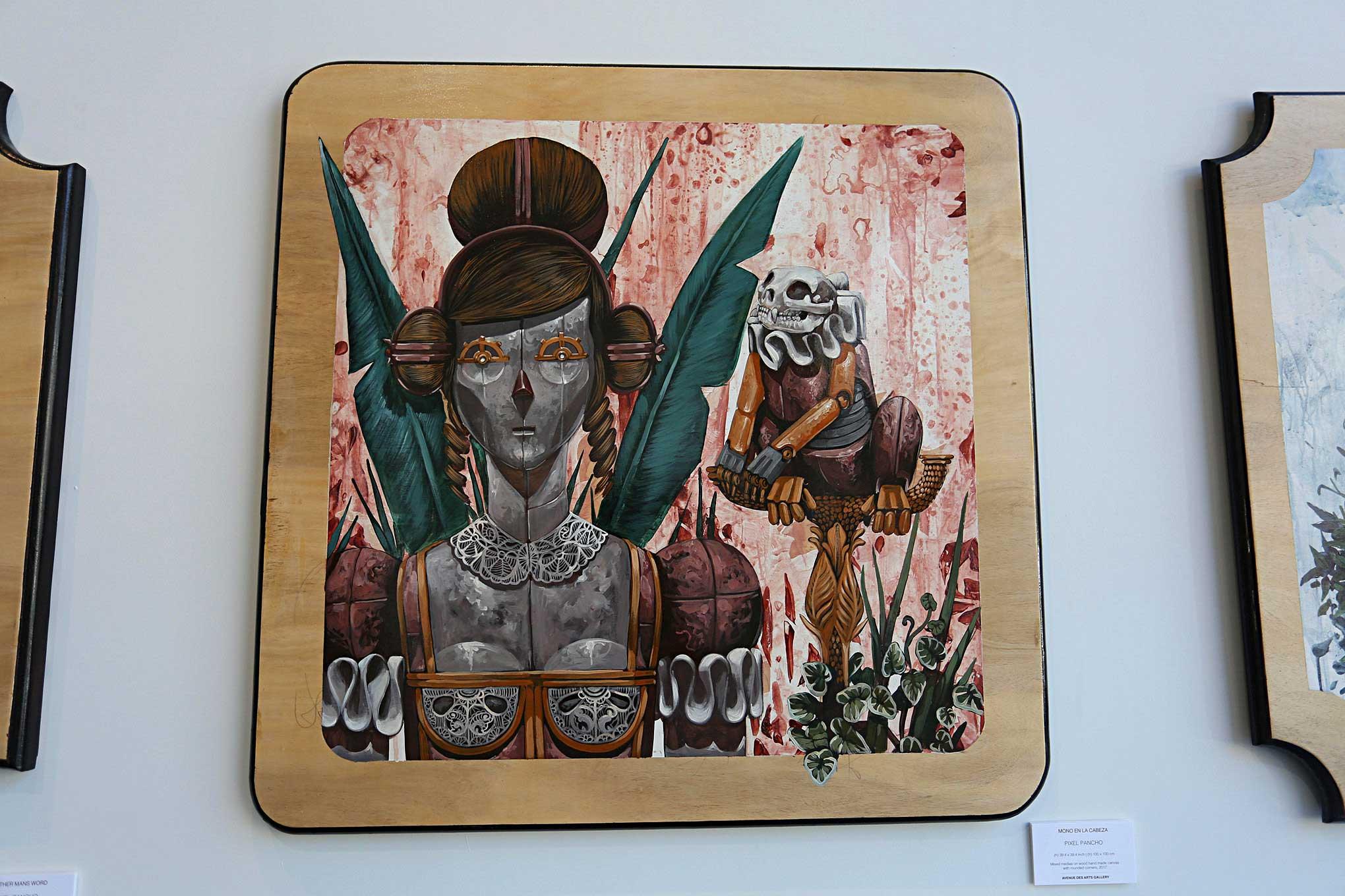 Avenue Des Arts Los Angeles Pixel Pancho Mono En La Cabeza