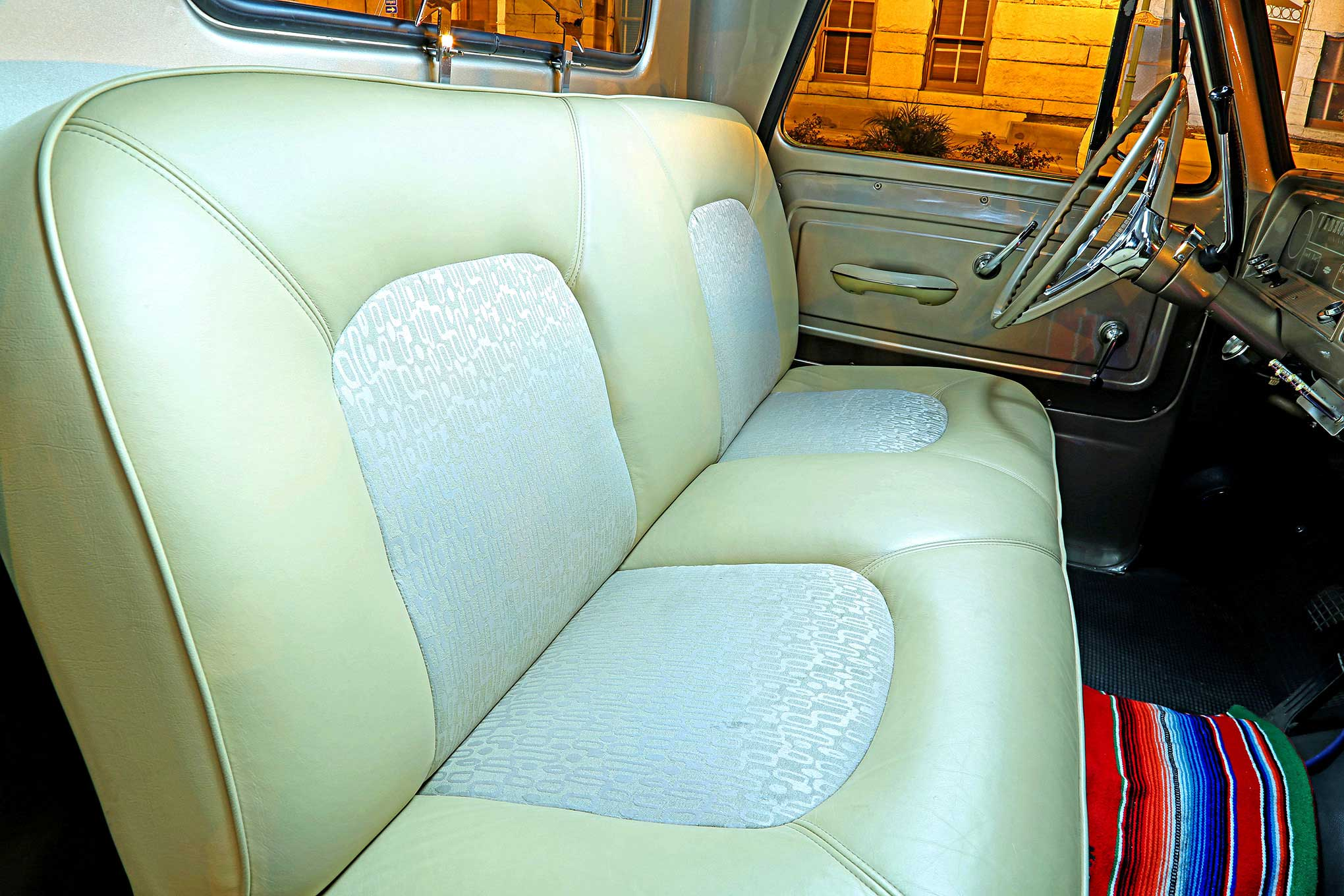 Swell 1964 Chevrolet C10 Tan Leather Bench Seat Lowrider Short Links Chair Design For Home Short Linksinfo
