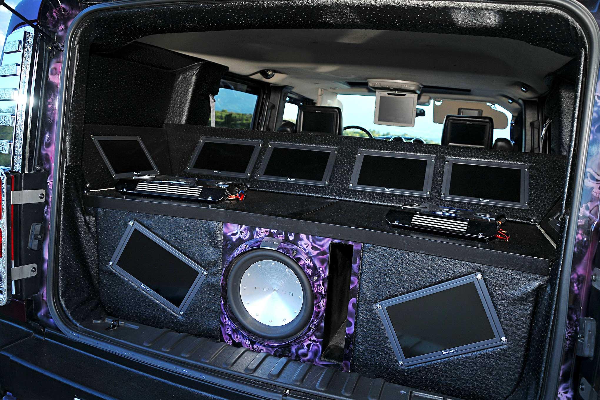 11 Hummer H11 Custom Sound System Enclosure - Lowrider | hummer h2 subwoofer box