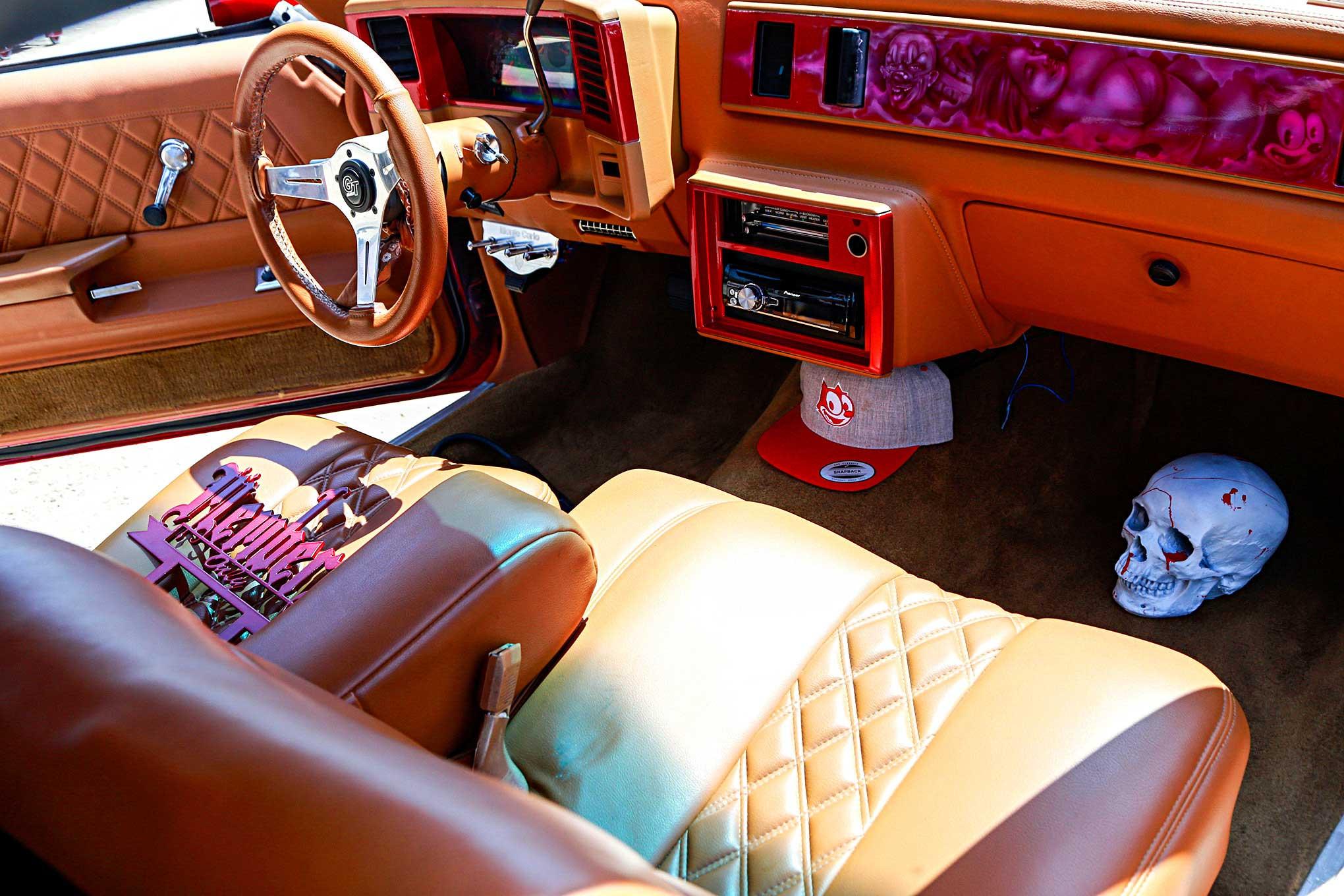 1987 Chevrolet Monte Carlo Peanut Butter Vinyl Interior