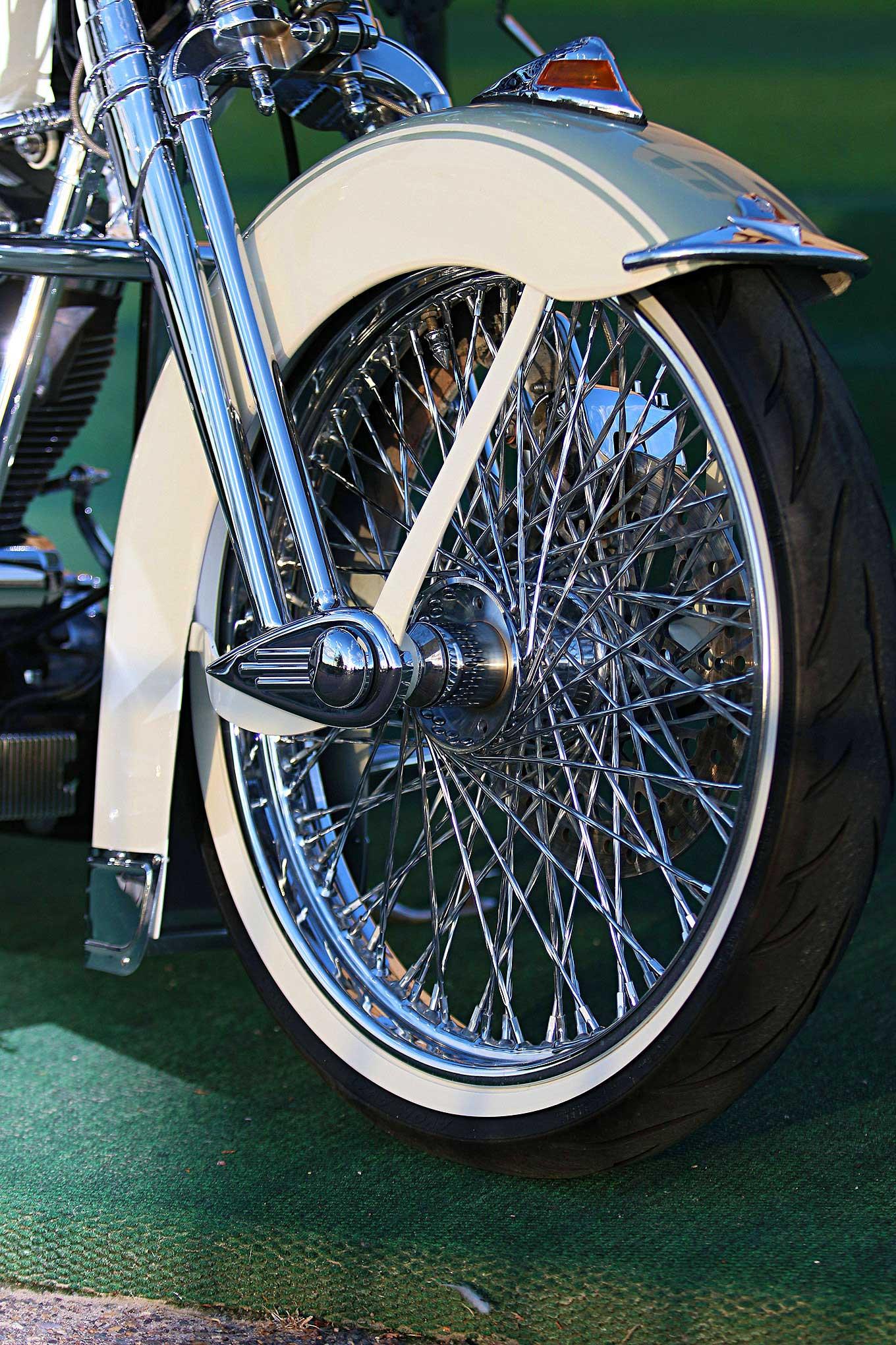 harley springer davidson heritage 2002 lowrider springers schwinns wheel wire custom american bobber