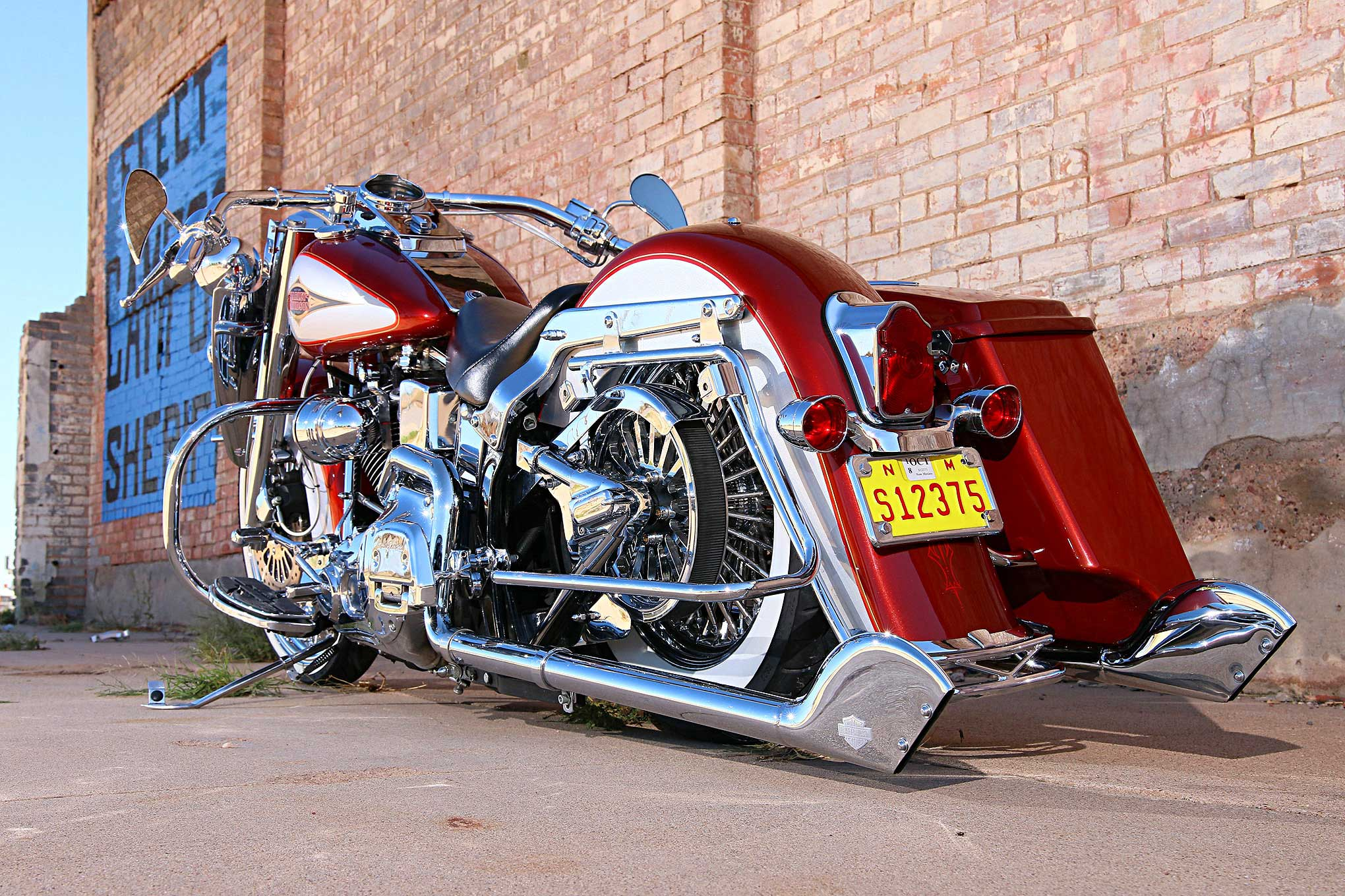 1999 Harley Davidson Heritage Softail Fishtail Exhaust Tips 01 Lowrider