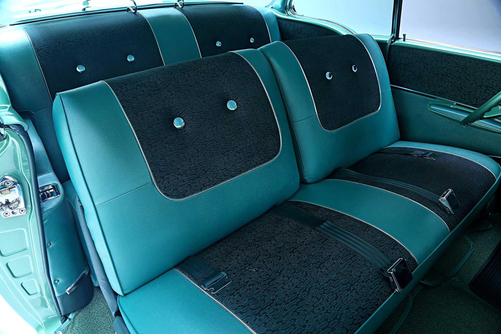 1957 Chevrolet Bel Air Green And Black Vinyl Interior Lowrider
