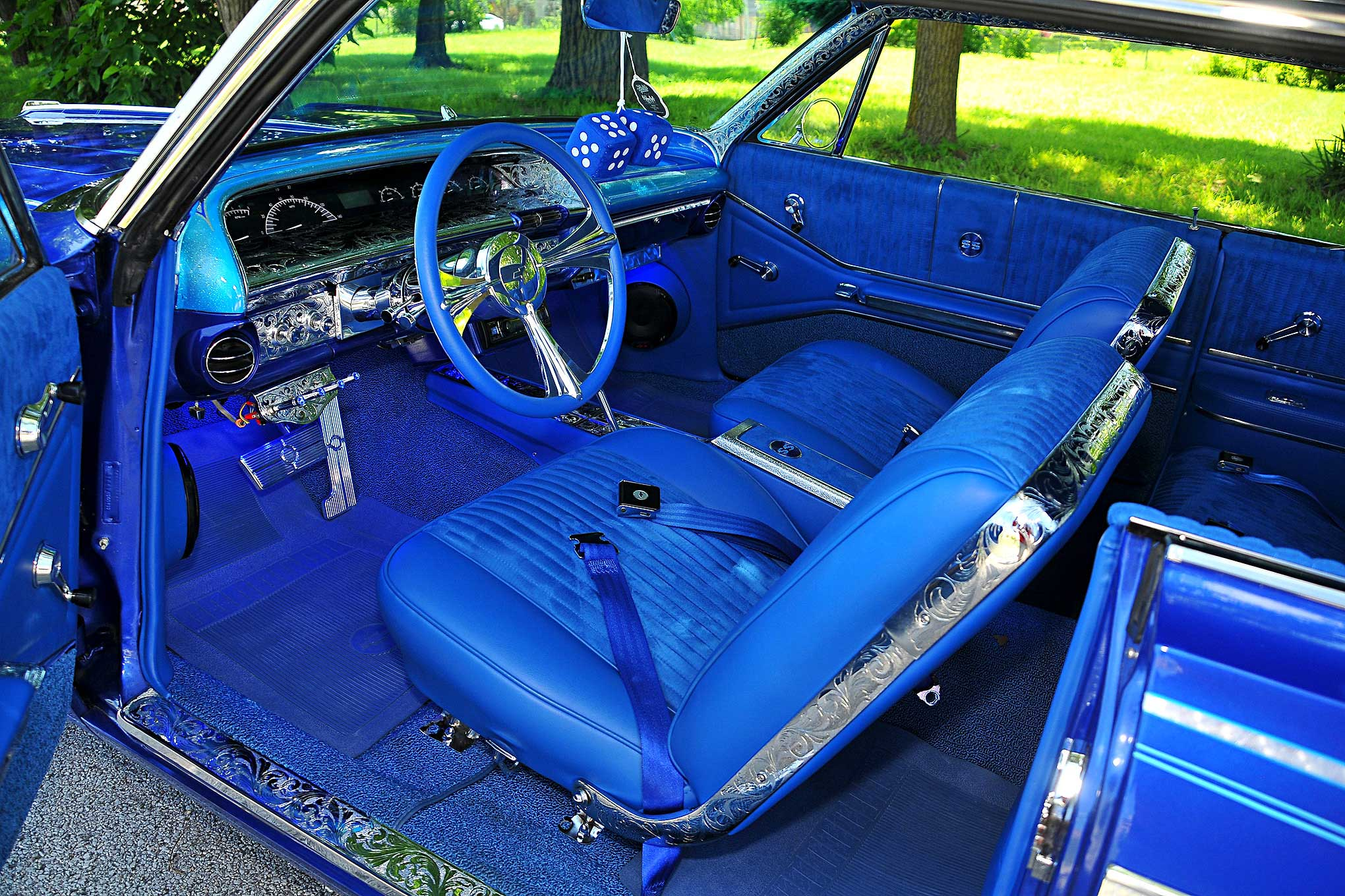 Fine 1964 Chevrolet Impala Blue Upholstery Interior Lowrider Gmtry Best Dining Table And Chair Ideas Images Gmtryco