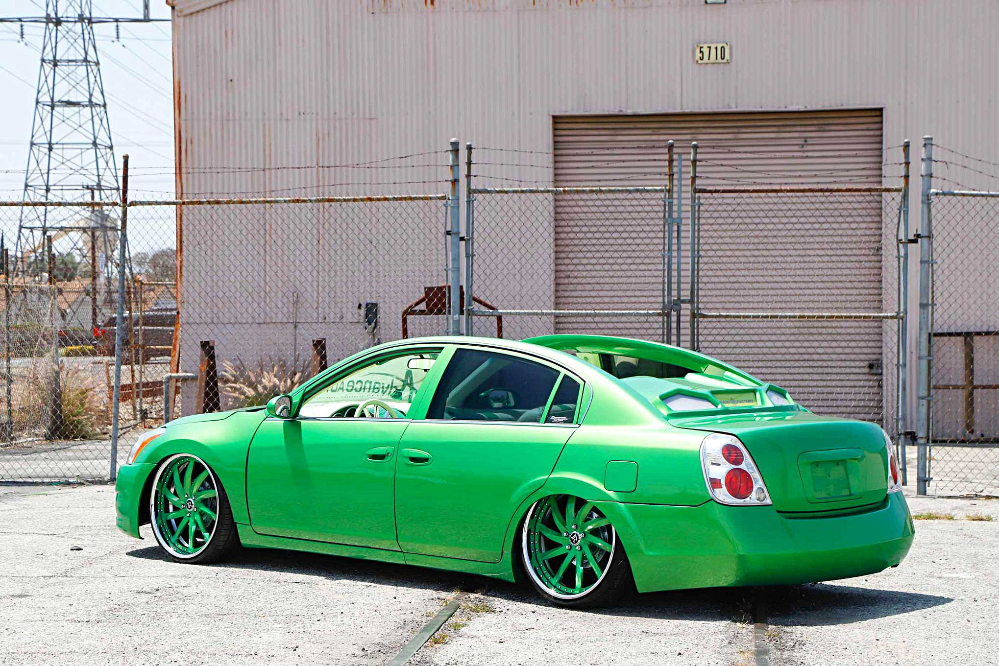 2005 nissan altima rear driver side view lowrider