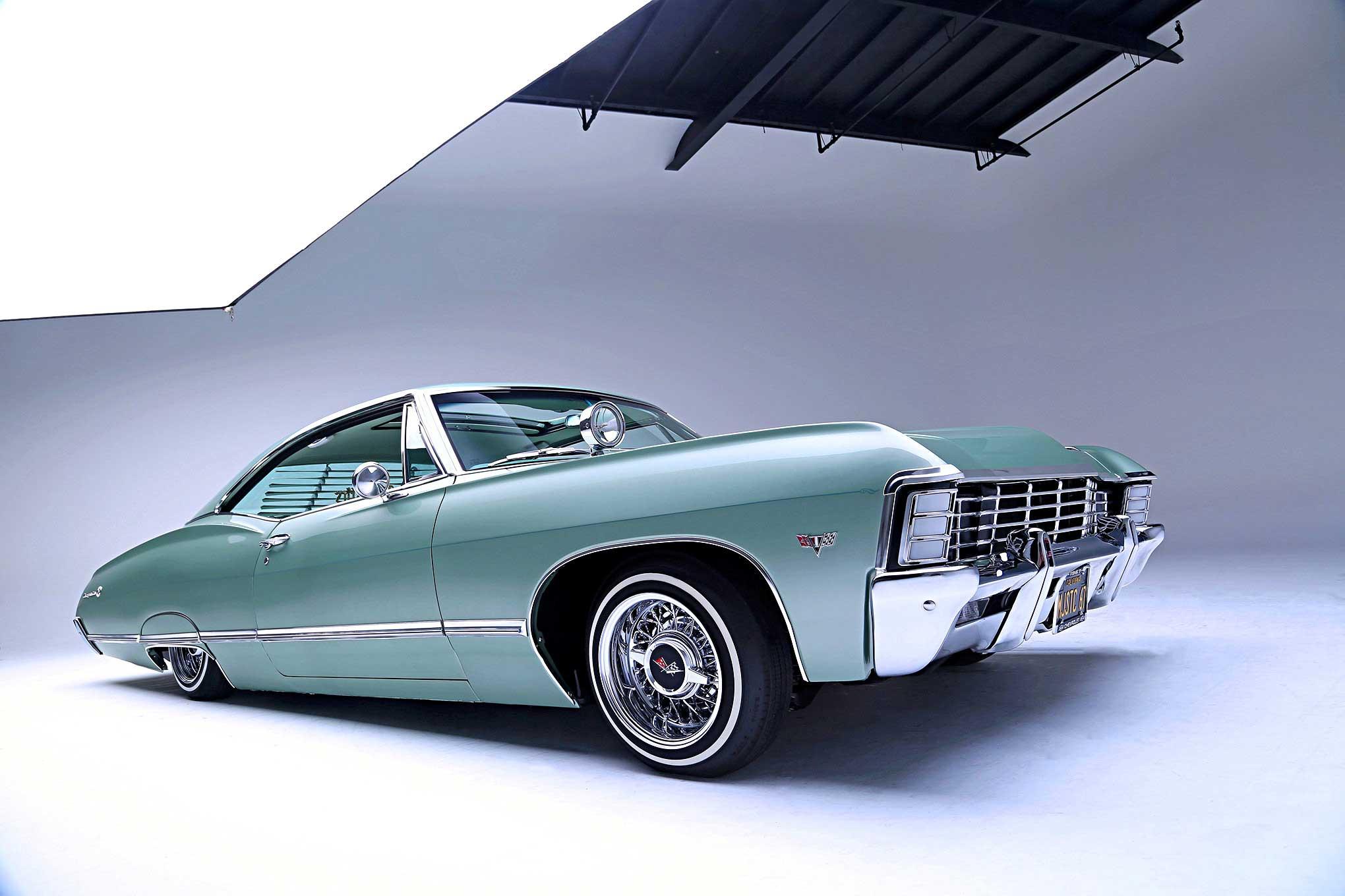 1967 Chevrolet Impala Left Hand Mirror Chrome Complete