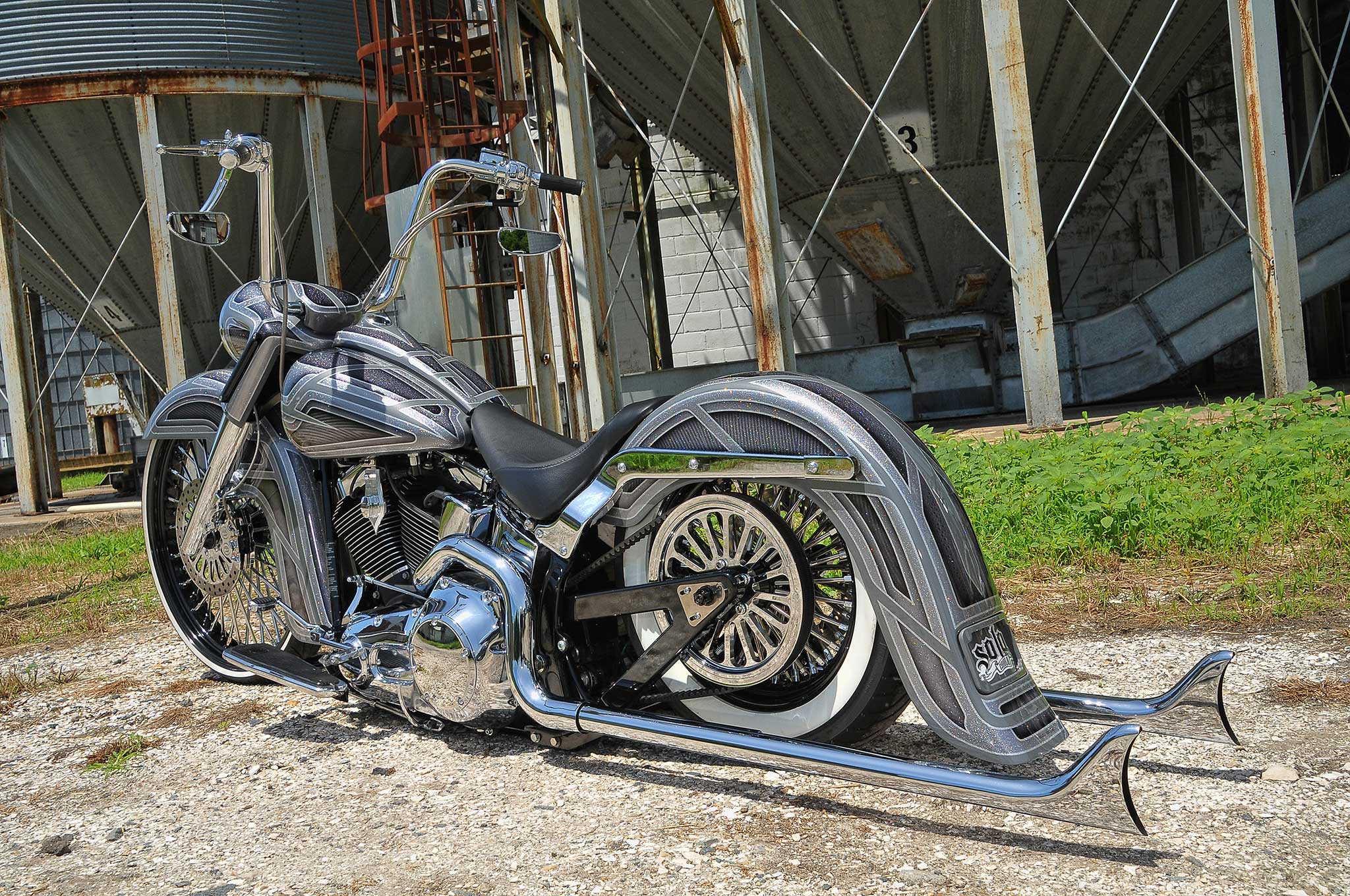 2006 Harley Davidson Softail Deluxe After Six Fishtail Exhaust Lowrider